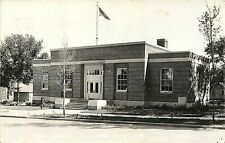 c1940 Real Photo Postcard; Post Office with Flag, Sac City IA 6061, Posted