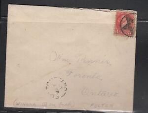 CANADA Star in Star Fancy Cancel FULTON  ON 1899 Winona ON
