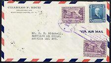 1483 El Salvador To Chile Air Mail Cover 1946 San Salvador - Santiago