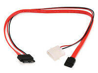 "16"" Slim Line SATA to SATA Serial ATA Data + Power CD/DVD Drive Combo Cable"