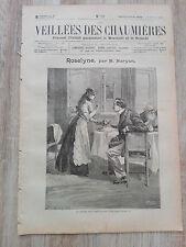 Journal illustré 1909  - Veillées des Chaumières - 06 Février - Roselyne...