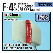 Def. modelo, DS32008, F-4E/F Phantom II FOD Cubierta/PE RBF Etiqueta Set (Revell 1/32)