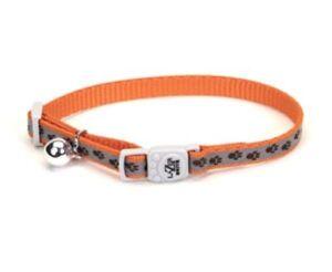 "Coastal LAZER BRITE Breakaway Adjustable Cat Collar 3/8"" x 8""-12""  5 DESIGNS!"