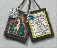Our Lady of Guadalupe Scapular & Rosary + Medals + Holy Cards + Protector Cross