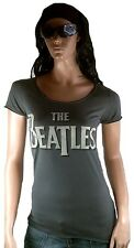 GENIAL Amplified Official The Beatles Logo Rock Star Vintage VIP Camiseta G.L