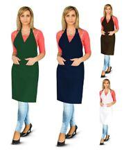 More details for rose apron kitchen chefs cooking front pocket contrast craft baking