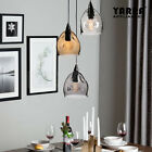 Multicolor Pendant Ceiling Light Smoke Glass Dining Room Lamp Clear Grey Tawny