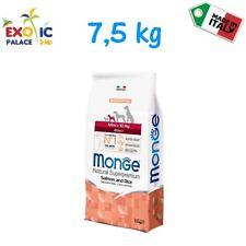 MONGE MINI ADULT SALMONE 7,5 KG CROCCHETTE CIBO SECCO ALIMENTO NATURALE PER CANE