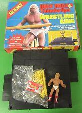 Rocky III Hulk Hogan Thunder Lips Wrestling Ring In Box VINTAGE WWE WWF 1985