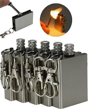 Portable Survival Fire Starter Flint Match Metal Lighter Hiking Tools US