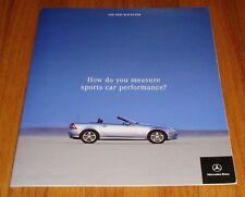 Original 2001 Mercedes Benz SLK-Class Deluxe Sales Brochure 230 320