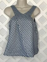 Anthropologie HD in Paris Top Womens Size 4 Jacquard Triangle Sleeveless Cutout