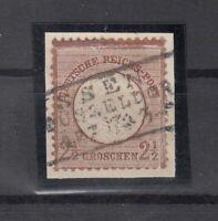 DA7834/ GERMANY REICH – MI # 21 USED ON PIECE – CV 120 $
