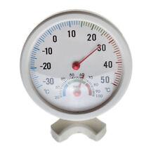 Thermometer Hygrometer Nadel rundes Zifferblatt Prüfer innen außen weiß V2W8