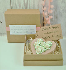 1st Wedding Anniversary Paper Boxed Heart 1st Anniversary Gift Personalised