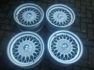 """BMW E34  BBS RZ 15"""" alloy wheels . Set of 4.  1179774.  E23 E24 E28 E32 ."""
