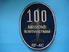 VIETNAM WAR PATCH, US AIR FORCE RF- 4C 100 MISSIONS NORTH