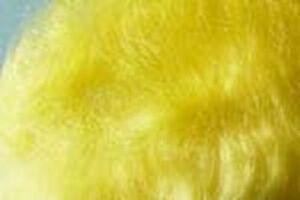 2x1g Poil MOHAIR dubbing JAUNE montage  mosca fliegen fly tying yellow
