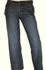 COUNTRY ROAD SZ 8 WOMENS Blue Low Rise Relaxed Short Leg Fit Denim Jeans