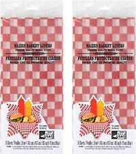 New - 30 ct Waxed Basket Liners for Sandwich, Burger, Hot Dog, Picnic Food BBQ