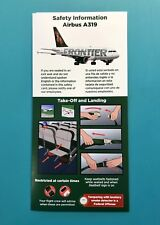 FRONTIER AIRLINES SAFETY CARD--AIRBUS 319-- JUNE 2018