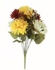 Lot x 2 Cream Sunflower & Yellow Mum Bush by Ashland® Artificial Flowers