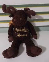 DAN DEE CHOCOLATE MOOSE PLUSH TOY SOFT TOY DAN DEE 48CM TALL COLLECTOR'S CHOICE!