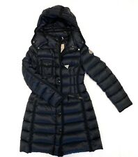 56b221b89038 Moncler  Hermine  Grosgrain Trim Black Down Coat Size  0