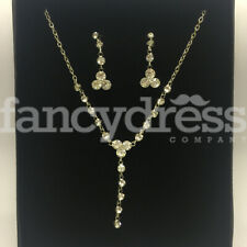 Jewellery Prom Wedding Gift New Diamante Gems Necklace Earrings Costume