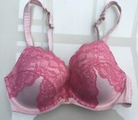 Beautiful Ted Baker Bra Size Is A 34DD - Pink Lace Theme               Ref#2.h
