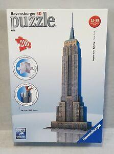 3D puzzle EMPIRE STARE BUILDING Ravensbuger 216 pieces architecture #125531