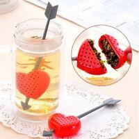 Tee Filter Infuser Sieb Teetasse Teekanne Amor Herz Valentinstag Geschenk YE