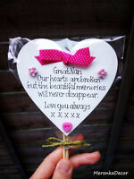 Mothers day Memorial -Mum-Grandma-Nanny- Grave Ornament- Personalised Plaque