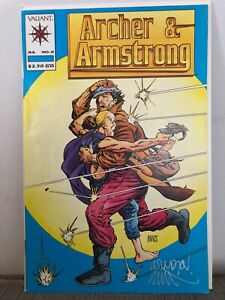Valiant Comic Archer & Armstrong 0 Signed Windsor Smith Cover 1992