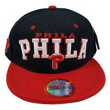 "City Name ""PHILADELPHIA"" Arch Two Tone Black/Red Snapback"