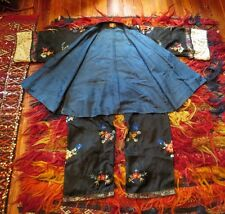 New listing Stunning 20s/30s Gimbel's Chinese Silk Embroidered Robe with Matching Pants