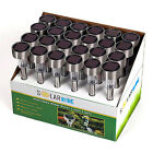 Outdoor Solar Powered LED Light Stainless steel Lawn Patio Pathway Garden Lamp
