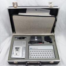 Vtg Timex Sinclair 1500 Computer in Briefcase w/ 2020 Cassette & Training Books
