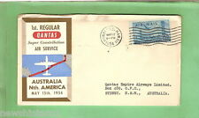 #D131. #21. 1954  QANTAS FLIGHT COVER- SUPER CONSTELLATION