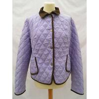 Aquascutum Ladies Jacket Coat Navy Padded Quilted Diamond Size M UK 10 12 New.