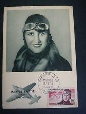 FRANCE PREMIER JOUR FDC YVERT POSTE AERIENNE 34 BASTIE AVIATION 50F LIMOGES 1955