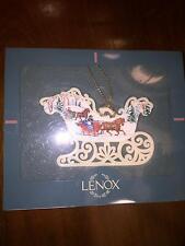 1996 Lenox China Ornament Two Sided Victorian Lace Sleigh/Sled Original Box NIB