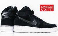 BNIB NEW Men Boy Nike Air Force 1 '07 LV8 High Black White Suede size 4 5 6