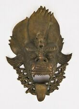 Rare Antique Bronze Thai Cambodian Foo Dog Lion Mask Wall Hanging Sculpture