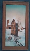 """LANDSCAPE  BY HOFFMAN, ORIGINAL OIL PAINTING ON CANVAS , SIGNED, UNFRAMED 12X24"""""""