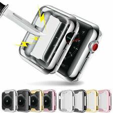 Apple Watch Series 5 4 3 2 1 Soft TPU Bumper iWatch Screen Protector Case Cover