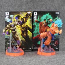 Dragon Ball Z Son Goku Saiyan God Vs Golden Freezer Figurine Set 2pcs New Inbox
