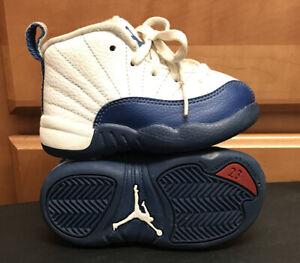 Nike Air Jordan XII 12 Retro French Blue 850000-113 Shoes Boys Toddler Size 6C