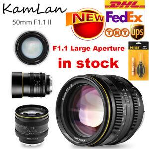 Kamlan 50mm f1.1 II Manual Focus Lens for Canon EOS-M Sony NEX Fujifilm X M4/3