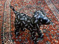 "VICTORIA'S SECRET LARGE 10"" PINK LOGO BLACK WHITE DOG STUFFED ANIMAL NEW"